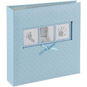Innova Q4103613M Baby Polka Dot Album avec 200 Pochettes Bleu
