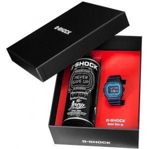 Casio Montre GW-B5600-2E-FR - Montre G-Shock Résine Multifonctions + Bombe de graff logoté et 4 pochoirs Homme