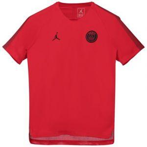 Nike Paris Saint-Germain T-shirt d'Entraînement Breathe Squad CHL Jordan x PSG - Rouge/Noir Enfant - Rouge - Taille Boys L: 147-158 cm