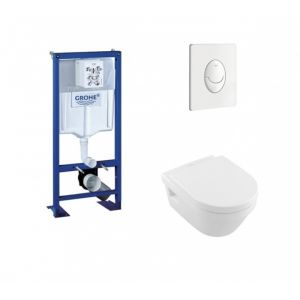 Grohe Pack Rapid SL + Cuvette Architectura D Villeroy + Plaque Blanche
