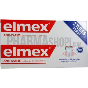 Elmex Anti-Caries - Dentifrice au fluorure d'amines Olafluor - 2 x 125 ml