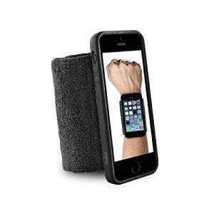 Puro IPC5RUNBLK - Brassard poignet pour iPhone 5/5S/SE