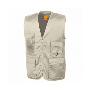 Result Gilet sans manches reporter multi-poches polycoton Camel L