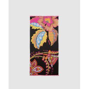 Desigual Foulard Indian Paisley imprimé multicolore Noir