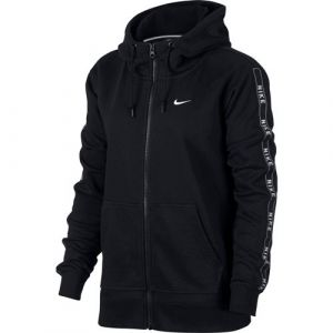 Nike NSW HOODIE FZ LOGO TAPE - NOIR - femme - SWEAT SHIRT