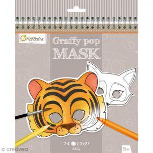 Avenue mandarine Graffy Pop Mask Animaux