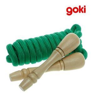 Goki Corde à sauter réglable en bois (245 cm)