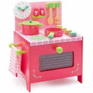 Djeco 06508 - Cuisinière en bois : La cuisinière de Lili Rose