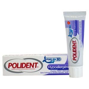Image de Polident Crème adhésive hypoallergénique pour appareil dentaire