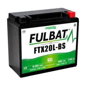 Fulbat Batterie moto Gel YTX20L-BS / FTX20L-BS 12V 18Ah