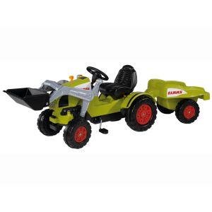 Smoby Tracteur à pédales Claas Celtis loader + remorque