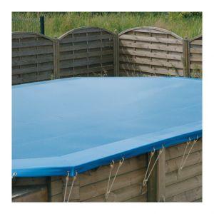 Ubbink Bàche d hivernage pour piscine bois octogonale allongée Modèle - Azura 7,50 x 4,00m octogonale allongée