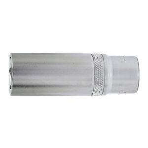 Forum Douille 1/2'' modèle long, 6 pans, Cote s/plats : 17 mm, Long. 77 mm