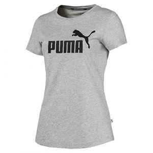 Puma T-Shirt Essential pour Femme, Gris/Bruyère, Taille S |