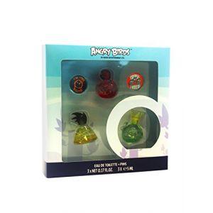 Angry Birds - Coffret 3 miniatures et 2 badges