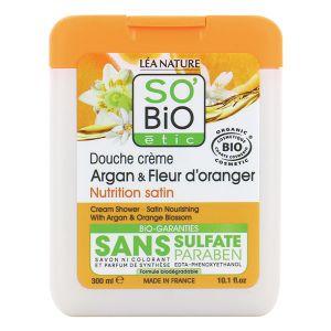 So'Bio Étic Argan & Fleur d'oranger - Douche crème nutrition satin