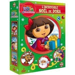 Coffret Dora l'exploratrice - Dora et la magie de Noël + Les couleurs de l'Arc-en-ciel + Dora et les Pirates