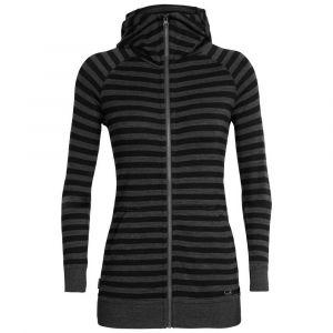 Icebreaker Sweatshirts Crush - Jet Heather / Black / Stripe - Taille S