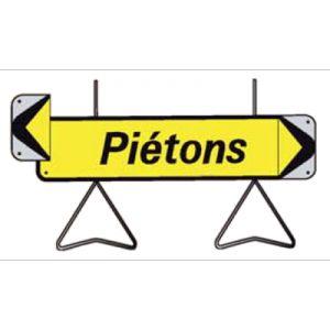 Taliaplast 526013 - Panneau signalisation piétons avec flèche amovible kd t1 1000x300mm