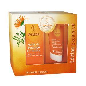 Weleda Huile de massage à l'Arnica + Gel douche