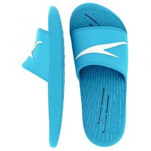 Speedo Slide Junior, Sandale Glissante Mixte Enfant, Bleu Winsor/Blanc, 38 EU