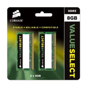 Corsair CMSO8GX3M1C1600C11 - Barrette mémoire Value Select 8 Go DDR3L 1600 MHz CL11 SoDimm