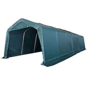 VidaXL Tente portable pour bétail PVC 3,3 x 9,6 m Vert foncé