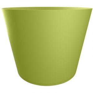 Grosfillex Pot de fleur design Tokyo 80 Diam.75 H.57 - Vert - Extérieur - Résistant à la chaleur