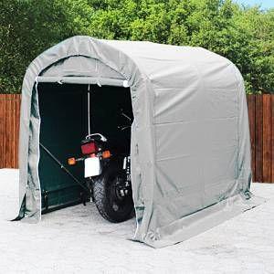 Intent24 Tente-garage carport 1,6 x 2,4m d'élevage abri agricole tente de stockage bâche 550g/m² armature solide gris.FR