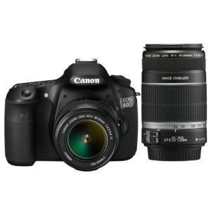 Canon EOS 60D (avec 2 objectifs 18-55mm et 55-250mm)