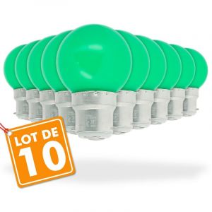 Eclairage design Lot de 10 Ampoules Led Vert 1 watt (équivalent à 10 watt) Guirlande Guinguette
