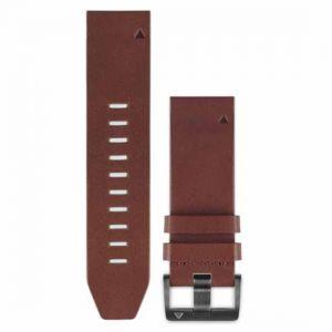 Garmin Bracelet Cuir marron - QuickFit - 22mm -fenix 5 Montres