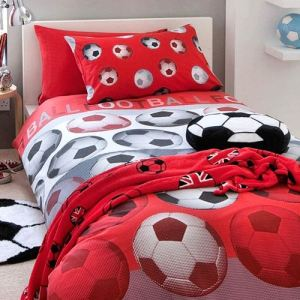 parure de lit football comparer 53 offres. Black Bedroom Furniture Sets. Home Design Ideas