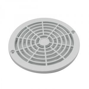Linxor Grille bonde de Fond Ronde pour Piscine - Diam 18,5 cm - Blanc - Norme CE