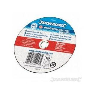 Silverline 349754 - 10 disques plats à tronçonner le métal 125 x 3 x 22,2 mm
