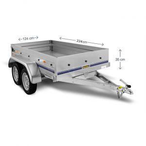 Norauto Remorque 2 essieux 500 Kg NOR 2300