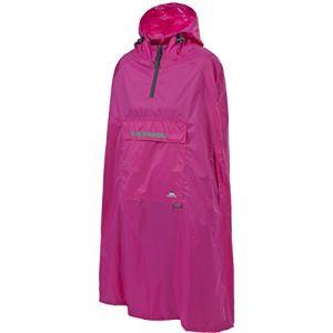 Trespass Qikpac Poncho Vestes Coupe-Pluie Homme Rose FR M (Taille Fabricant M)