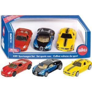 Siku 6301 - Coffret de voitures de sport