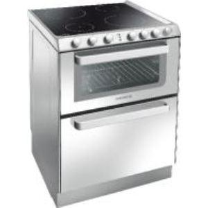 Rosières TRV 60 - Cuisinière vitrocéramique 4 zones avec four électrique 39 L et lave-vaisselle 6 couverts AAA