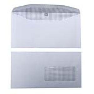 Majuscule 1000 enveloppes 11,5 x 22,5 cm avec fenêtre 4,5 x 10 cm