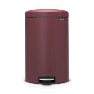 Brabantia Poubelle à Pédale newIcon, 20 litres, Mineral Windsor Red - 115905