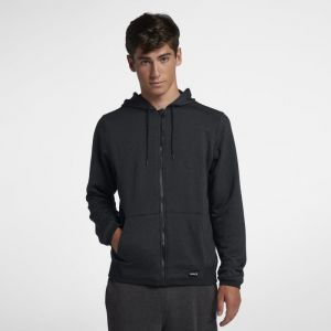 Nike Sweat à capuche Hurley Dri-FIT Disperse Full-Zip pour Homme - Noir - Taille L