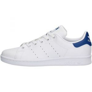 Adidas Stan Smith, Baskets Basses garçon, Blanc FTWR White/EQT Blue S16), 38 2/3 EU