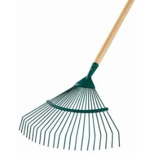 Leborgne 374221 - Balai à gazon fil rond avec manche bois 44 cm