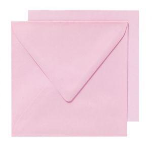 Panduro Enveloppes cartes Rose - Carrées pré-pliées - Poids 240 g - 155x155 cm - Poids 240 g - 155x155 cm - Paquet de 10 enveloppes et 10 cartes