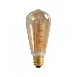 Ampoule LED rétro Edison Vintage (D.6cm) filament twist 5W (E27)