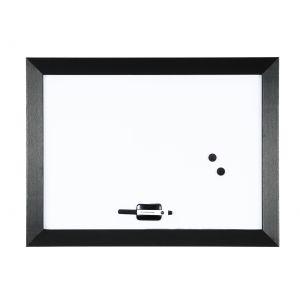 Bisilque Tableau d'affichage blanc magnétique KAMASHI 60x45 cm cadre noir