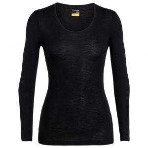 Icebreaker Vêtements intérieurs 175 Everyday L/s Scoop - Black - Taille M
