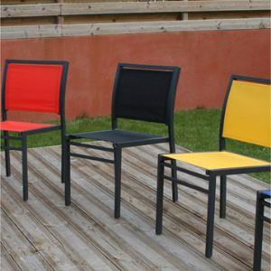 Image De DCB Garden Chaise Jardin Empilable En Aluminium Et Textilne Couleur Alatoire