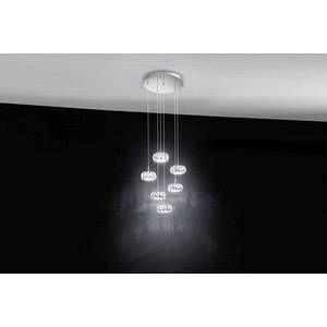 Eglo Suspension Design Corliano métal transparent 4 x 5 W